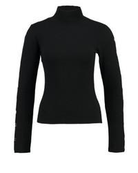 schwarzes Langarmshirt von Missguided