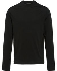 schwarzes Langarmshirt von Prada