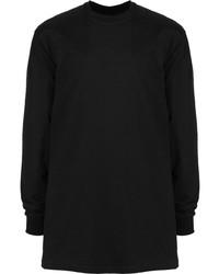 schwarzes Langarmshirt von Rick Owens