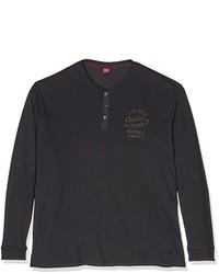 schwarzes Langarmshirt von S.Oliver Big Size