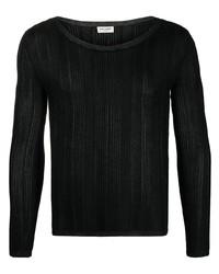 schwarzes Langarmshirt von Saint Laurent