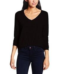 schwarzes Langarmshirt von VILA CLOTHES