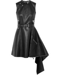 schwarzes Leder Skaterkleid von Alexander McQueen