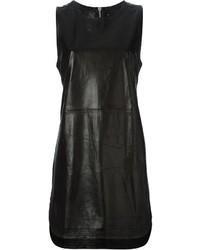 schwarzes Leder Trägerkleid
