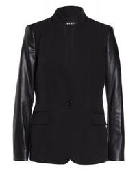 schwarzes Ledersakko von DKNY