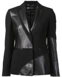 schwarzes Ledersakko von Versace