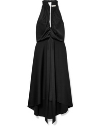 schwarzes Midikleid aus Satin von Chloé