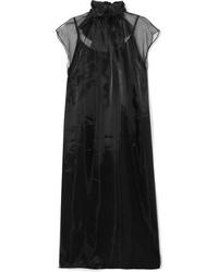 schwarzes Midikleid aus Seide von Prada