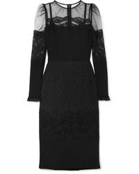 schwarzes Midikleid aus Tüll von Dolce & Gabbana