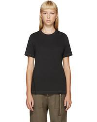 schwarzes Mohair T-shirt von 3.1 Phillip Lim