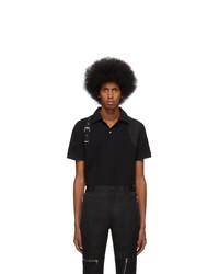 schwarzes Polohemd von Alexander McQueen