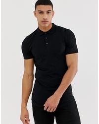 schwarzes Polohemd von ASOS DESIGN