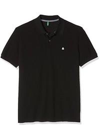 schwarzes Polohemd von Benetton