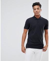 schwarzes Polohemd von Calvin Klein