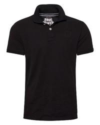 schwarzes Polohemd von CODE-ZERO