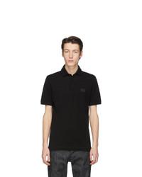schwarzes Polohemd von Dolce and Gabbana