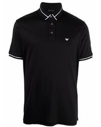 schwarzes Polohemd von Emporio Armani