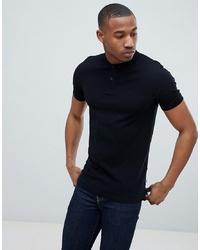 schwarzes Polohemd von Jack & Jones