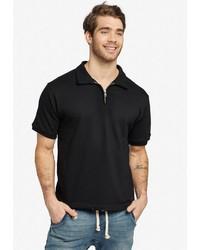 schwarzes Polohemd von khujo