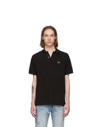 schwarzes Polohemd von Lacoste