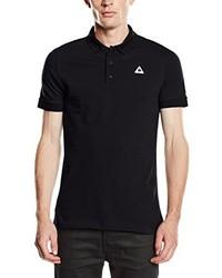 schwarzes Polohemd von Le Coq Sportif