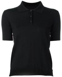 schwarzes Polohemd von Maison Margiela