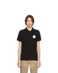 schwarzes Polohemd von Moncler