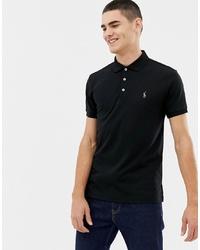 schwarzes Polohemd von Polo Ralph Lauren