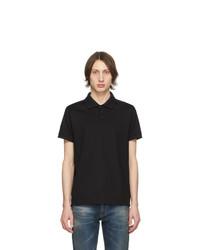 schwarzes Polohemd von Saint Laurent