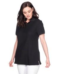 schwarzes Polohemd von SHEEGO BASIC