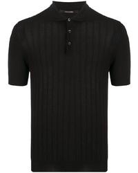 schwarzes Polohemd von Tagliatore