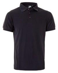 schwarzes Polohemd von Twentyfour