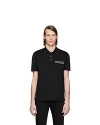 schwarzes Polohemd von Versace