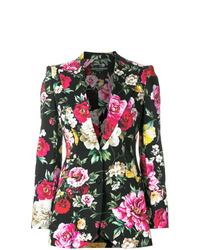 schwarzes Sakko mit Blumenmuster von Dolce & Gabbana