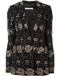 schwarzes Sakko mit Blumenmuster von Givenchy