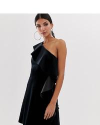 schwarzes Samt Cocktailkleid von Asos Tall