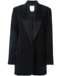 schwarzes Satinsakko von DKNY