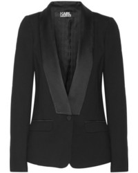 schwarzes Satinsakko von Karl Lagerfeld