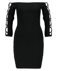 schwarzes schulterfreies Kleid von Even&Odd