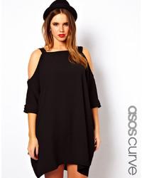 schwarzes schwingendes Kleid von Asos Curve