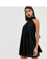 schwarzes schwingendes Kleid von ASOS DESIGN