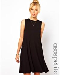 schwarzes schwingendes Kleid von Asos Petite