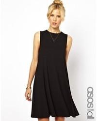 schwarzes schwingendes Kleid von Asos Tall