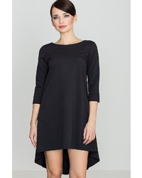 schwarzes schwingendes Kleid von LENITIF