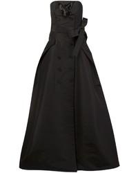 schwarzes Seide Ballkleid von Carolina Herrera