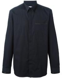 schwarzes Seide Businesshemd von Givenchy