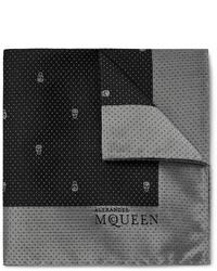 schwarzes Seide Einstecktuch von Alexander McQueen