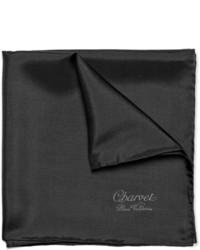 schwarzes Seide Einstecktuch von Charvet