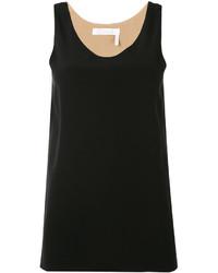 schwarzes Seide Trägershirt von Chloé