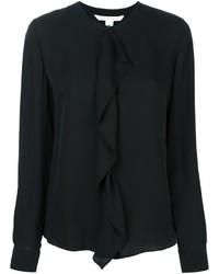 schwarzes Seidehemd von Diane von Furstenberg